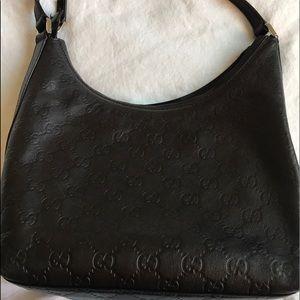 Authentic Small Gucci in Leather Monogram Purse